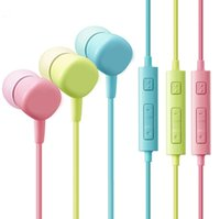 Wholesale HS130 Colorful Headphone MM Stereo Music Earphone with Mic Earbuds for Samsung Galaxy Note7 S7 S6 Cell Phone