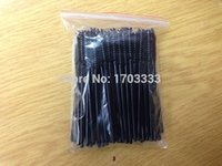 Wholesale HE425 NEW Disposable Eyelash Brush Mascara Wands Applicator Curls eyelash cock eyelash black