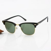 half full - 2016 Top Brand Classics Half Frame Sunglasses Oculos Women Acetate Plank With Metal Frame Glass Lens Sun Glasses mm Original Box