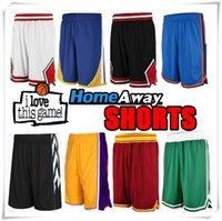 active sportswear - Stitched Men Basketball Shorts Sportswear Space Jam Tune Squad GoldenState Chicago Cleveland Los Angeles Toronto San Antonio OKC