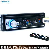 Precio de Consola gris-DVD del coche de DHL / Fedex 20pcs / lot del coche 12V Radio FM estéreo MP3 cargador de reproductor de audio USB / SD / AUX Subwoofer Car Electronics en el tablero de 1 DIN