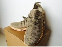 Wholesale 2016 Kids Shoes Limited Edition Oxford Tan Boost Turtle Dove Grey Athletic Shoes Pirate Black Kanye Shoes Moonrock Kids size