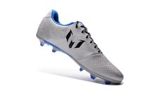 background shoes - Men s messi FG football soccer shoes boots Silver Black faced green background Colors Size