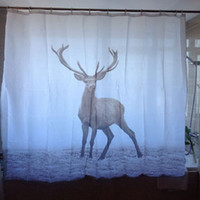 animal friendly products - Animal Pattern Waterproof Bath Curtains Deer Printed Shower Curtains Washable Bathroom Products Polyester Curtain for Shower