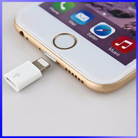 apple pin connector - For5s Pad iOS9 Android Micro USB to Lighting Pin Connector Adapter Converter USB Data Sync Charging Cable