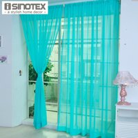 Wholesale Window Curtain Rod Pocket Solid Tulle Voile Fabric Transparent Sheer Multicolor For Home Living Room Screening