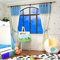 anchor sound - Pastoral fresh Mediterranean anchor pattern nonwoven wall paper shop for living room bedroom children s room wallpaper