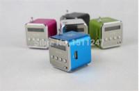 Wholesale new portable micro SD TF USB speakers internet radio mobile phone vibration computer music player multifunction FM radio