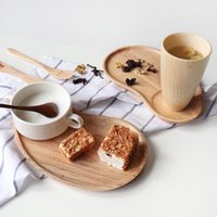 Wholesale inch Originality solid wood Tray breakfast plate Saucer disc woodiness Cake Sushi check Center plate