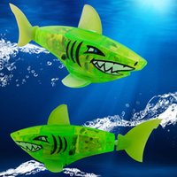 Wholesale New Baby toys Baby kids Activated Battery Powered Robot Shark Toy Green Brand gifts