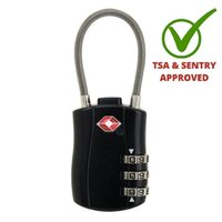 backpack cable lock - TSA Approved Travel Coded Lock Combination Cable Luggage Locks for Suitcases Backpacks x30x10mm digits