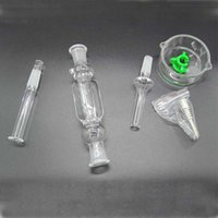 acrylic water kit - Nectar Collector kit honey straw Glass pipe water pipes bong titanium quartz mm joint Oil Rigs rig ash kit