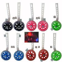 Wholesale Jenny Licy L J sport child Bicycle Training Wheels fit to Inch PU tyre with LED Light top quality frame