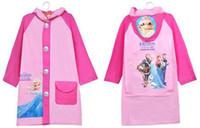 Wholesale Unisex child Funny Raincoat Children Cartoon Kid Girl boy Cartoon Rain Coat Hiking Rainwear Poncho Rainsuit YY250
