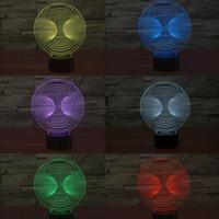 Figure No No Mixed Lot 3D Optical Night Light 10 LEDs Night Lamp Gift Decoration DC 5V AA Battery Factory Wholesale