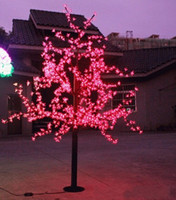 led cherry tree - 972 LEDs ft Height LED Cherry Blossom Tree LED Christmas Tree Light Waterproof VAC RED Pink BLUE Color Outdoor Use Free Ship