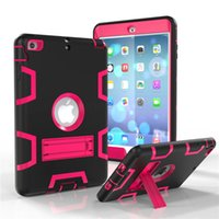 Wholesale Kickstand Hybrid in Robot Defender Tough Robot Hybrid PC Silicon Kickstand Stand Back Cover Case For iPad Mini MINI3