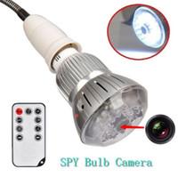 Acheter Ampoules pour appareil photo-Ampoule LED Light Spy Hidden Camera Camcorder Nuit à distance Vision 720P Mini DVR
