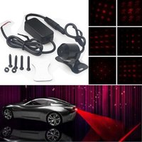 Wholesale Car Laser Fog Light Lamp nm Anti Fog Anti collision LED Laser Fog Red Safety Warning Led Tail Rear Lights Pattern Choices