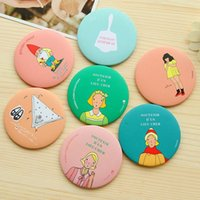 Wholesale New sweet lady cm LIVEWORK mini makeup mirrors Korea style kawaii girls stuff cosmetic mirror Wholesales