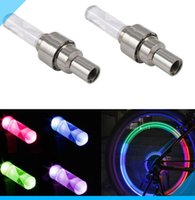bicycle tire lights - Colorful LED Bike Wheel light RGB AG10 Bicycle Tyre Valve Cap waterproof Super bright Warning llight security lamp tire ornamental