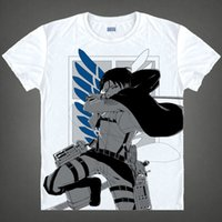attack on titan manga - Attack on Titan Rival Ackerman Cool T Shirts Anime and Manga Awesome Top Printed T Shirts Cosplay Costumes Anime