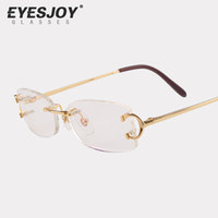 designer eyeglasses frame - Eyeglasses Metal Glasses Rimless Frame for Men Women Gold Reading Prescription Glasses Eyeglasses Designer with Box Logo