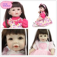 beautiful bebe - Beautiful cm inch Baby Dolls For Girls With Black Long Hair Lovely Reborn Toddler Girl Doll Best Beneca Bebe Reborn As Toys