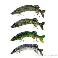 big pike lures - 8 quot cm g Lifelike Multi jointed segement Pike Muskie Fishing Lure Swimbait Crankbait Hard Bait Fish Treble Hook Tackle Y0181
