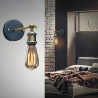Wholesale Louis Poulsen Sconce Wall Lamp Vintage Loft Wall Light E27 Edison Bulb Plated Iron Retro Industrial Home Lighting Bedside Lamp