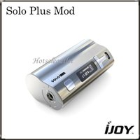 best solos - IJOY Solo Plus Mod with Special T Button Outlook Solo Plus w TC Mod Best Match with iJOY Limitless RDTA Plus Tank Original