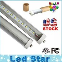 T8 45W SMD 2835 Stock In US + 8 feet led 8ft single pin t8 FA8 Single Pin LED Tube Lights 45W 4800Lm LED Fluorescent Tube Lamps 85-265V