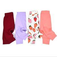 Wholesale Baby Ins PP Pants Lemon Pineapple Cactus Haroun Pants Ins Fruit Stripe Cropped Trousers Fashion Solid Color Leggings Leisure Tights B1232