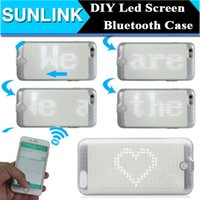 app case - APP Control DIY LED Light Case Bluetooth Wireless Smart Cover for iPhone s Luminous Glowing Flash Cases for Party Concert