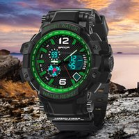 analog thermometer - 2016 Digital watch SANDA Sports Men Watches Outdoor Digital Watch Clock Barometer Thermometer Climbing Hiking Hours montre femme