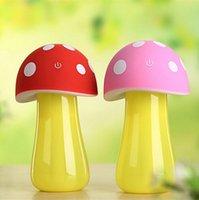 aromatherapy night lamp - New mushroom lamp led night light usb humidifier purifier air mini diffuser atomizer