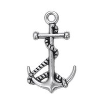 antique gold tone - My shape K Gold Antique Silver Tone Nautical Anchor Pendant Infinity Hope Friendship Charms