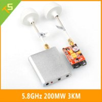 Wholesale 5pcs Max km Boscam FPV G Ghz mw Wireless AV Transmitter and Receiver with Mushroom antenna for RC MultiCopter Phantom