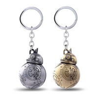 bb jewelry - Julie Gold Silver Star Wars Robot BB BB8 Keychain D The Force Awakens Alloy Key Ring For Men Fans Movie Jewelry Llaveros free ship