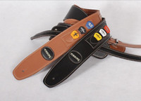 Wholesale guitar straps real leather folk wood guitar electric guitar bass strap