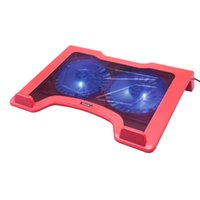 big laptop cooler - iDock laptop cooling pad serials with Two cm LED big silent fanspowered by USB cable from laptop