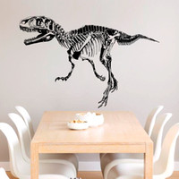 animal fossil - Dinosaur fossils silhouette DIY home decorative wall stickers removable self adhesive vinyl sticker for home decor CM size pc opp bag