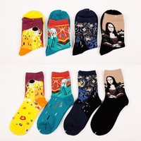 art interesting - 6 Pairs Style restoring ancient ways of woman man art interesting novel comfortable breathable sock socks cotton socks