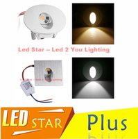 Wholesale Square Round LED Recessed Light Wall Lamp W Decoration LED Basement Bulb Porch Pathway Step Stair Light AC V