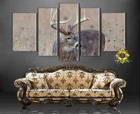Cheap 2016 Chinese Writing Cloth Writing Cloth Painting Canvas free Shipping To Sell Cheap 5 Wall Art Elk Modern Printing Home Decoration Life Roo