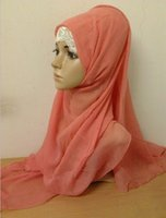 Wholesale Vogue of new fund of multicolor daily practical turban pure color scarf covering can be