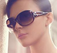 big glasses trend - New fashion ladies Sunglasses big box bow Sunglasses retro trend of gradual glasses sunglasses men polarized gafas de sol