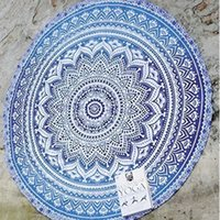 Wholesale Indian Mandala Printed Round Roundie Beach Throw Tapestry Hippy Hippie Gypsy Polyester Tablecloth Beach Towel