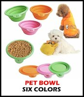 Wholesale 50pcs High Quality Grade Fold Pet Bowl Folding Dog Bowl Pet Food Dish Pet Feeders