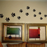 animal print dishes - Dog Cat Walking Paw Print Wall Stickers Wall Decal Home Art Decor Food Dish Room House Bowl Car Sticker